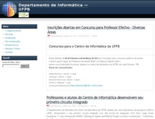 di.ufpb.br screenshot