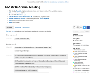 dia201652ndannualmeeting.sched.org screenshot