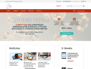diabetes.org.br screenshot