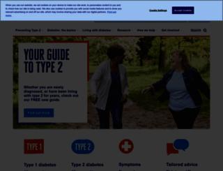 diabetes.org.uk screenshot