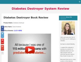 diabetesdestroyersystemreview.com screenshot