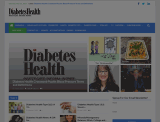 diabeteshealth.com screenshot