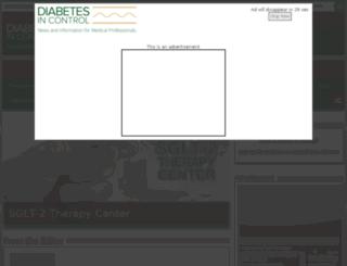 diabetesincontrol.com screenshot