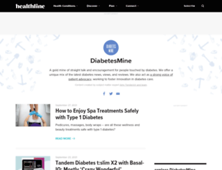 diabetesmine.com screenshot