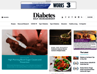 diabetesselfmanagement.com screenshot