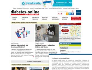 diabetesundtechnologie.de screenshot