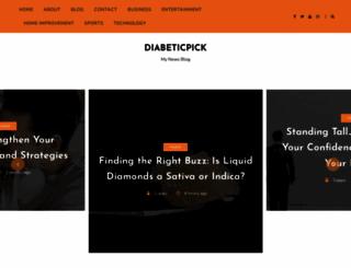 diabeticpick.com screenshot