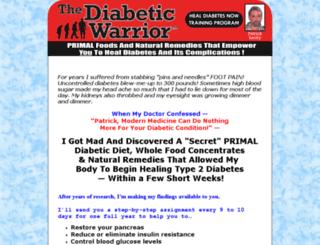 diabeticwarrior.com screenshot