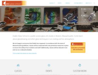 diabloglassschool.com screenshot
