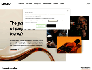 diageo.com screenshot