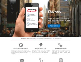 dial2verify.in screenshot