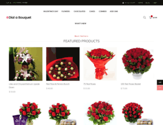 dialabouquet.in screenshot