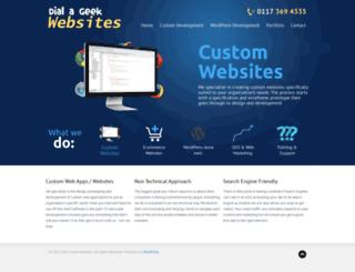 dialageekwebsites.co.uk screenshot