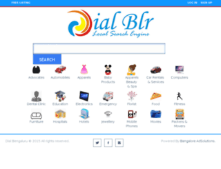 dialbengaluru.com screenshot