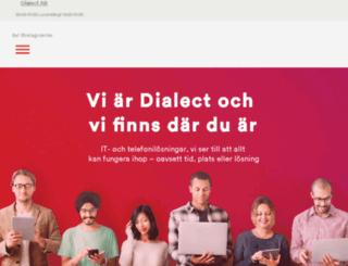 dialect.se screenshot