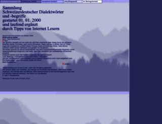 dialektwoerter.ch screenshot