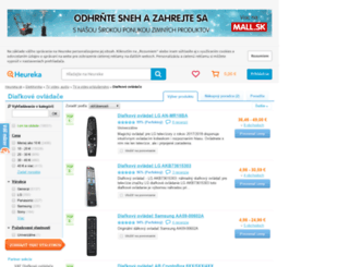 dialkove-ovladace.heureka.sk screenshot