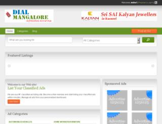 dialmangalore.com screenshot