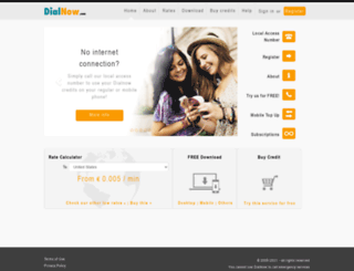 dialnow.com screenshot