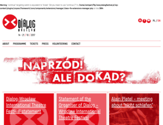 dialogfestival.pl screenshot