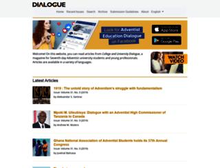 dialogue.adventist.org screenshot