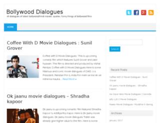 dialogues.bollywoodchicks.com screenshot