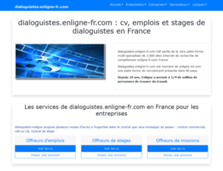 dialoguistes.enligne-fr.com screenshot