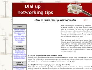 dialupnetworkingtips.com screenshot