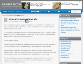 diamondearringsnow.com screenshot