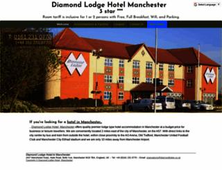diamondlodge.co.uk screenshot