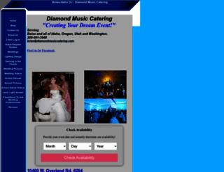 diamondmusiccatering.com screenshot