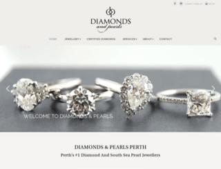diamondsandpearlsperth.com.au screenshot
