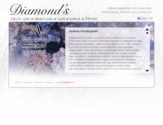 diamondsszalon.hu screenshot