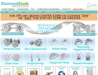 diamondstudswholesale.com screenshot