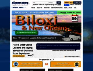 diamondtours.com screenshot