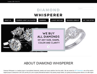 diamondwhisperer.com screenshot