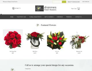 diannesfreshflowers.com.au screenshot