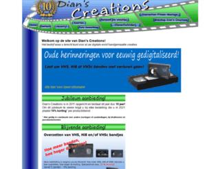 dianscreations.nl screenshot