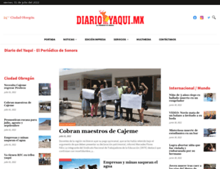 diariodelyaqui.mx screenshot
