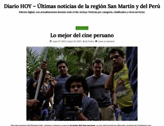 diariohoy.com.pe screenshot