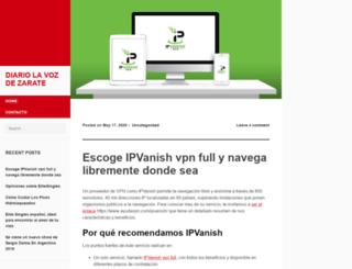 diariolavozdezarate.com.ar screenshot
