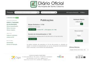 diariomunicipal.sc.gov.br screenshot