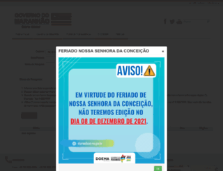 diariooficial.ma.gov.br screenshot