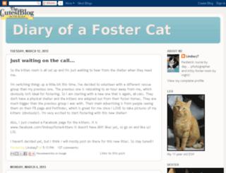 diaryofafostercat.blogspot.com screenshot
