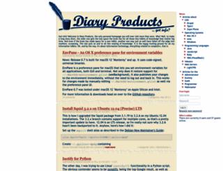 diaryproducts.net screenshot