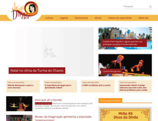 dicasdadinda.com.br screenshot
