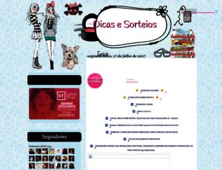 dicasesorteios.blogspot.com.br screenshot