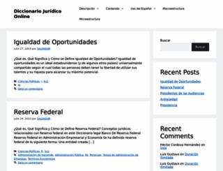diccionario.leyderecho.org screenshot