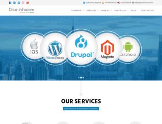 diceinfocom.com screenshot