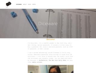 dicewarepasswords.com screenshot